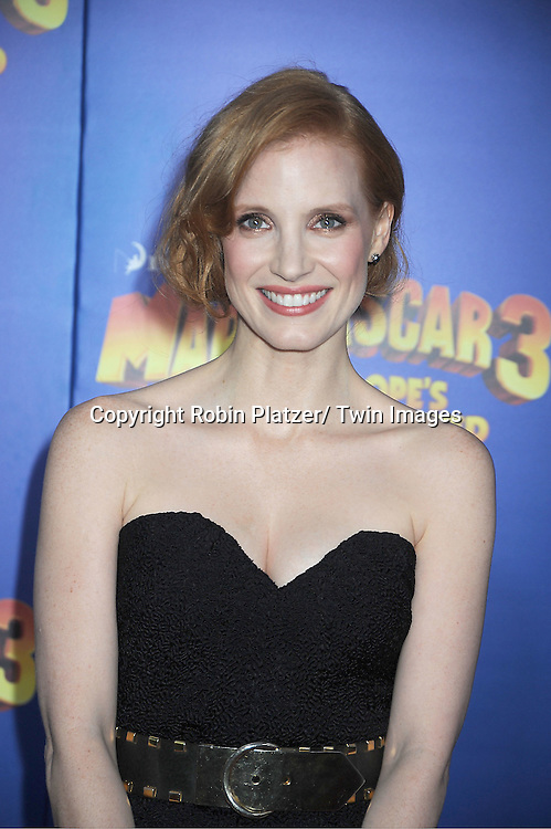 """Jessica Chastain attends the """"Madagascar 3:  Europe's Most Wanted""""  New York Premiere on June 7, 2012 at The Ziegfeld Theatre in New York City."""