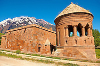 Bayindir Mosque Prayer room. Built in 1492 as the tomb of Turcoman chief Bayindir. Ahlat, Lake Van, Turkey 3