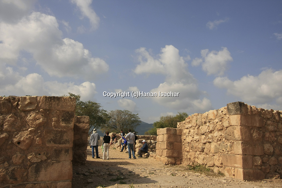 Israel, Upper Galilee. Wall and gate thought to have been built during King Solomon's reign