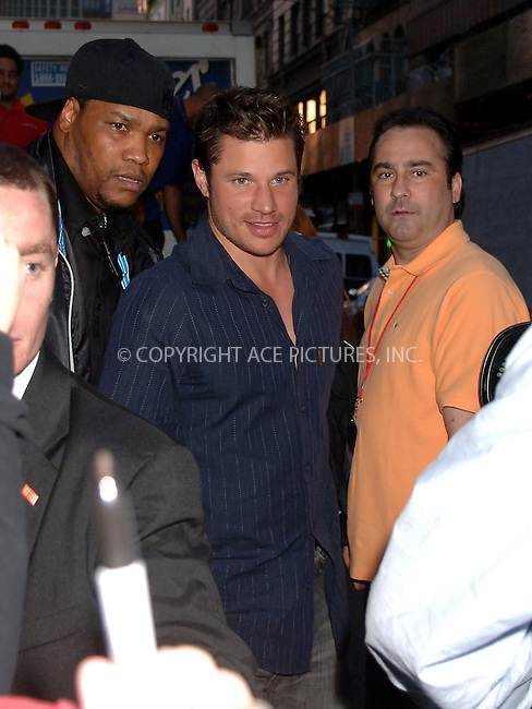 WWW.ACEPIXS.COM . . . . .  ....May 6 2006, New York City....Singer Nick Lachey is mobbed by fans as he leaves a performance in Manhattan....Please byline: BRETT KAFFEE-ACEPIXS.COM.... *** ***..Ace Pictures, Inc:  ..(212) 243-8787 or (646) 769 0430..e-mail: picturedesk@acepixs.com..web: http://www.acepixs.com