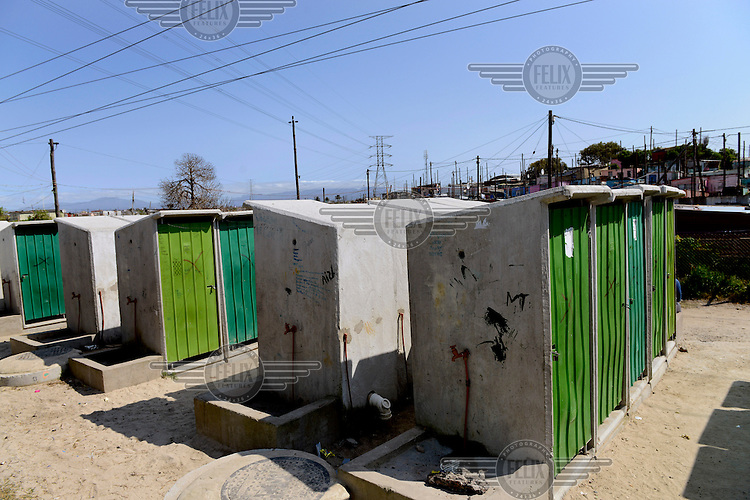 A concrete toilet block used by hundreds of local residents.
