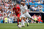 Real Madrid´s Roberto Carlos during 2015 Corazon Classic Match between Real Madrid Leyendas and Liverpool Legends at Santiago Bernabeu stadium in Madrid, Spain. June 14, 2015. (ALTERPHOTOS/Victor Blanco)