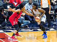 Washington, DC - Sept 17, 2017: Minnesota Lynx center Sylvia Fowles (34) in action against Washington Mystics center Krystal Thomas (34) during playoff game between the Mystics and Lynx at the Verizon Center in Washington, DC. (Photo by Phil Peters/Media Images International)