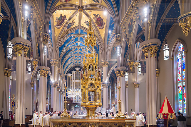 April 13, 2017; Holy Thursday Mass in the Basilica of the Sacred Heart (Photo by Matt Cashore/University of Notre Dame)