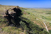 Head-Smashed-In Buffalo Jump, Alberta, Canada, July 2008. A museum now stands on the spot that was one of the prime bison hunting grounds for the natives. They used to herd the buffalo and run them over the steep cliffs. A road trip of 14 days by car takes us to the hightlights of Western Canadian cultulture, nature and history. Photo by Frits Meyst/Adventure4ever.com