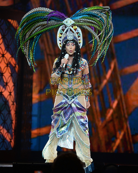 SUNRISE, FL - MAY 17 : Cher (Cherilyn Sarkisian) performs at the BB&amp;T Center on May 17, 2014 in Sunrise Florida. <br /> CAP/MPI04<br /> &copy;MPI04/Capital Pictures
