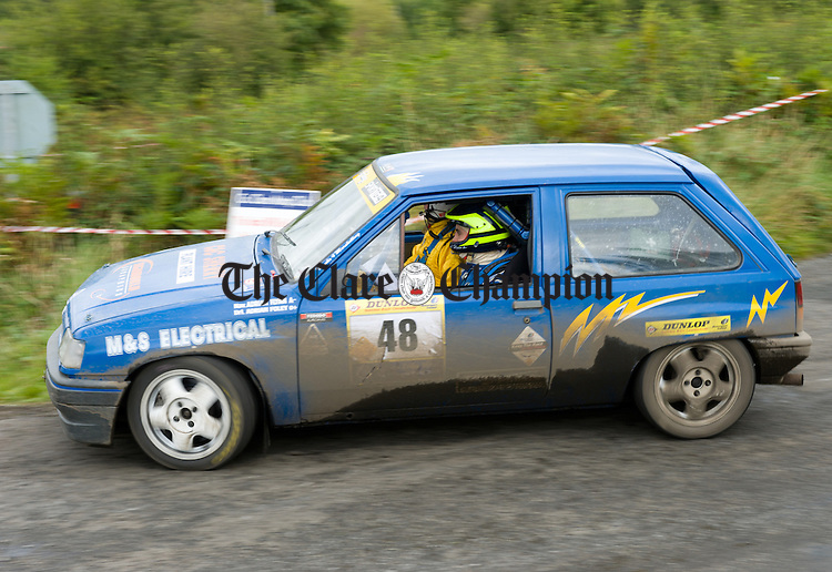 in action during Stage 5 of the Clare Stages Rally at Ballinruan/Crusheen. Photograph by John Kelly.