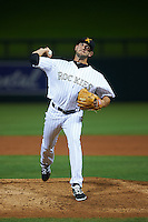Salt River Rafters pitcher Matt Carasiti (11) delivers a pitch during an Arizona Fall League game against the Scottsdale Scorpions on October 13, 2015 at Salt River Fields at Talking Stick in Scottsdale, Arizona.  Salt River defeated Scottsdale 5-3.  (Mike Janes/Four Seam Images)