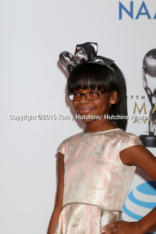 LOS ANGELES - FEB 5:  Marsai Martin at the 47TH NAACP Image Awards Arrivals at the Pasadena Civic Auditorium on February 5, 2016 in Pasadena, CA