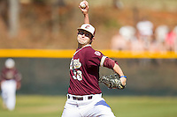 Starting pitcher Josh Salay #36 of the College of Charleston Cougars in action against the Davidson Wildcats at Wilson Field on March 12, 2011 in Davidson, North Carolina.  The Wildcats defeated the Cougars 8-3.  Photo by Brian Westerholt / Four Seam Images