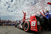 2017 Verizon IndyCar Series - Firestone Grand Prix of St. Petersburg<br /> St. Petersburg, FL USA<br /> Sunday 12 March 2017<br /> Sebastien Bourdais celebrates his victory<br /> World Copyright: Scott R LePage/LAT Images