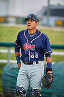 Jose Sibrian (26) of the Rocky Mountain Vibes before the game against the Ogden Raptors at Lindquist Field on July 4, 2019 in Ogden, Utah. The Raptors defeated the Vibes 4-2. (Stephen Smith/Four Seam Images)