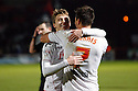 Filipe Morais of Stevenage scores their fourth goal from the penalty spot and is congratulated by Luke Freeman<br />  - Stevenage v Stourbridge - FA Cup Round 2 - Lamex Stadium, Stevenage - 7th December, 2013<br />  © Kevin Coleman 2013