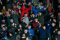 12th February 2020; McDairmid Park, Perth, Perth and Kinross, Scotland; Scottish Premiership Football, St Johnstone versus Motherwell; St Johnstone fans celebrate at the end of the match