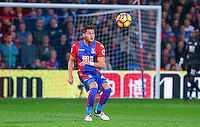 Joel Ward of Crystal Palace clears the ball during the EPL - Premier League match between Crystal Palace and Liverpool at Selhurst Park, London, England on 29 October 2016. Photo by Steve McCarthy.