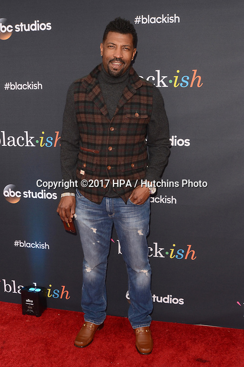 "LOS ANGELES - APR 12:  Deon Cole at the ""Blackish"" FYC Event at the Television Academy, on April 12, 2017 in North Hollywood, CA"