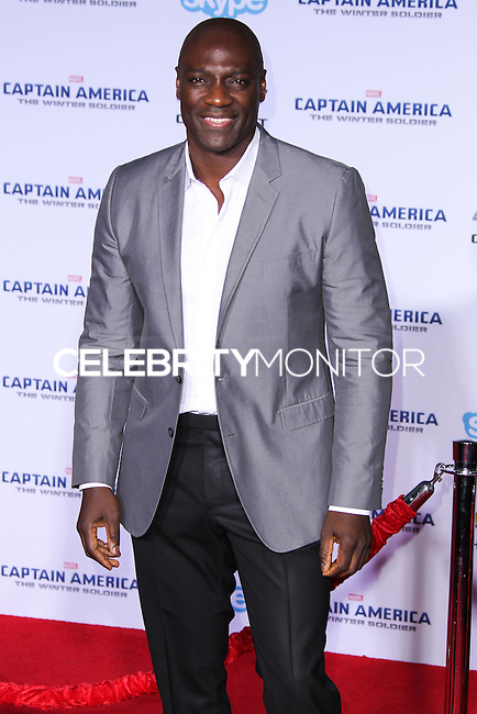"""HOLLYWOOD, LOS ANGELES, CA, USA - MARCH 13: Adewale Akinnuoye-Agbaje at the World Premiere Of Marvel's """"Captain America: The Winter Soldier"""" held at the El Capitan Theatre on March 13, 2014 in Hollywood, Los Angeles, California, United States. (Photo by Xavier Collin/Celebrity Monitor)"""