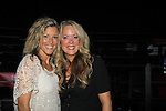 """General Hospital Laura Wright """"Carly"""" poses with Debbie Bald-Fowler who went to high school with Laura at Surrattsville, High School in  Maryland. The fans got a chance to takes all the various wines, a Q&A,  photos, autographs. (Photo by Sue Coflin/Max Photos)"""
