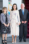 Queen Letizia of Spain and Minister of Health Maria Luisa Carcedo (l) arrive to  the institutional act of the World Day of Mental Health 2019 in Madrid. October 09, 2019. (ALTERPHOTOS/ Francis Gonzalez)