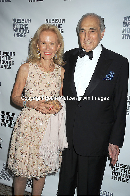 George S Kaufman and wife Marianna attends the Museum of the Moving Image Benefit honoring Philippe Dauman of Viacom, Randy Falco of Univision and George S Kaufman of Kaufman Astoria Studios on April 19, 2012 at The St Regis Hotel in New York City.