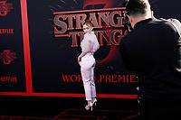 "LOS ANGELES - JUN 28:  Sadie Sink at the ""Stranger Things"" Season 3 World Premiere at the Santa Monica High School on June 28, 2019 in Santa Monica, CA"