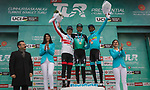 Felix Großschartner (AUT) Bora-Hansgrohe wins Stage 5 of the 2019 Presidential Cycling Tour of Turkey with Valerio Conti (ITA) UAE Team Emirates 2nd and Merhawi Kudus (ERI) Astana Pro Team 3rd, running 164.1km from Bursa to Kartepe, Turkey. 20th April 2019.<br /> Picture: Yucelcakiroglu | Cyclefile<br /> <br /> All photos usage must carry mandatory copyright credit (© Cyclefile | Yucelcakiroglu)