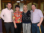 Vivian and Betty McMullen celebrating their 50th birthdays in the Grove House Dunleer with friends David and Mary Fitzsimons. Photo:Colin Bell/pressphotos.ie