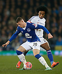 Ross Barkley of Everton and Willian of Chelsea during the Emirates FA Cup match at Goodison Park. Photo credit should read: Philip Oldham/Sportimage