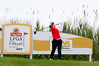 Sakura Yokomine (Japan) tees off on the third hole during the final round of the ShopRite LPGA Classic presented by Acer, Seaview Bay Club, Galloway, New Jersey, USA. 6/10/18.<br /> Picture: Golffile   Brian Spurlock<br /> <br /> <br /> All photo usage must carry mandatory copyright credit (&copy; Golffile   Brian Spurlock)