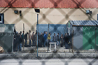 Refugees line up to register at the detention centre in Fylakio. Conditions at the centre are known to be dismal, at any time it houses 400 refugees without proper facilities for such a number. According to UNHCR, 38,992 immigrants arrived in Greece in the first 10 months of 2010, whereas in 2009 the number was only 7,574.