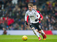 Fulham's Stefan Johansen during the Sky Bet Championship match between Fulham and Queens Park Rangers at Craven Cottage, London, England on 17 March 2018. Photo by Andrew Aleksiejczuk / PRiME Media Images.