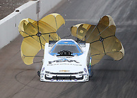 Feb 21, 2020; Chandler, Arizona, USA; NHRA funny car driver John Force during qualifying for the Arizona Nationals at Wild Horse Pass Motorsports Park. Mandatory Credit: Mark J. Rebilas-USA TODAY Sports