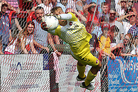 Charlton Athletic goalkeeper, Ashley Maynard-Brewer makes a fine save during Welling United vs Charlton Athletic, Friendly Match Football at the Park View Road Ground on 13th July 2019