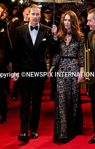 """WARHORSE ROYAL PREMIERECatherine, The Duchess of Cambridge attends her first Royal Premiere for the UK Premiere of Warhorse.The Duchess was accompanied by the Duke of Cambridge, Prince William_08/01/2012..Mandatory Photo Credit: ©Dias/Newspix International..**ALL FEES PAYABLE TO: """"NEWSPIX INTERNATIONAL""""**..PHOTO CREDIT MANDATORY!!: NEWSPIX INTERNATIONAL(Failure to credit will incur a surcharge of 100% of reproduction fees)..IMMEDIATE CONFIRMATION OF USAGE REQUIRED:.Newspix International, 31 Chinnery Hill, Bishop's Stortford, ENGLAND CM23 3PS.Tel:+441279 324672  ; Fax: +441279656877.Mobile:  0777568 1153.e-mail: info@newspixinternational.co.uk"""