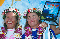 Falconer and Layne Beachley (AUS), Roxy pro, Hawaii..photo:  joliphotos.com