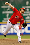 3 September 2006: Jon Rauch, pitcher for the Washington Nationals, throws his first major league save against the Arizona Diamondbacks. The Nationals defeated the Diamondbacks 5-3 at Robert F. Kennedy Memorial Stadium in Washington, DC. The win marked the fourth straight game in which the Nationals came back from a  two or more run deficit after seven innings of play - a feat last accomplished by the 1923 New York Giants.Mandatory Photo Credit: Ed Wolfstein.
