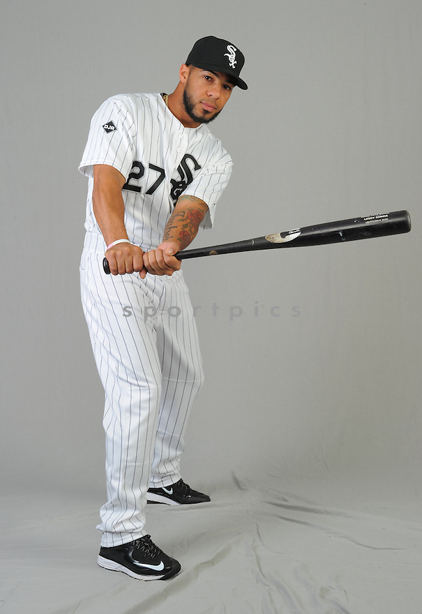 Chicago White Sox Leury Garcia (27) during photo day on February 28, 2015 in Glendale, AZ.