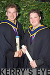 Alan O'Connor and Brendan O'Malley from Knocknagoshel who graduated  with a Bachelor of Science (Honours) in Physical Education studies at the Autumn graduations which took place at the Brandon hotel on Friday.