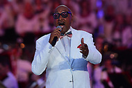 "Washington, DC - July 3, 2017: Abdul Fakir, the remaining original member of the Motown group The Four Tops performs with the group at the ""Capitol Fourth"" rehearsal concert on the west lawn of the U.S. Capitol July 3, 2017  (Photo by Don Baxter/Media Images International)"