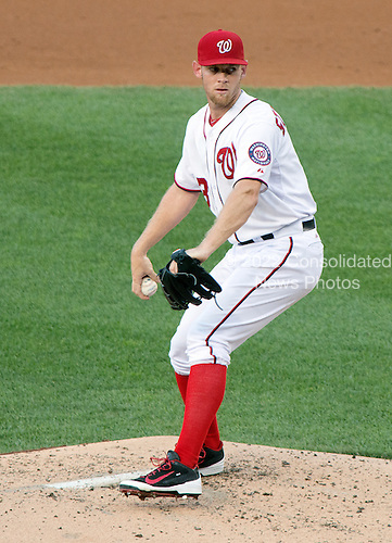 Washington Nationals pitcher Stephen Strasburg (37) works in the second inning against the Colorado Rockies at Nationals Park in Washington, D.C. on Tuesday, July 1, 2014.<br /> Credit: Ron Sachs / CNP