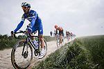 Philippe Gilbert (BEL) Deceuninck-Quick Step during the 117th edition of Paris-Roubaix 2019, running 257km from Compiegne to Roubaix, France. 14th April 2019<br /> Picture: ASO/Pauline Ballet | Cyclefile<br /> All photos usage must carry mandatory copyright credit (&copy; Cyclefile | ASO/Pauline Ballet)