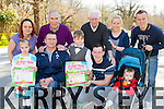 Launching the Kerry Spina Bifida 5k Run/Walk or Push to be held in Killarney national park on Sunday 19th April front rowl-r: Chantel, Roy and Nathan Guerin, Alan Kelly, Jack Houlihan. Back row: Francis henderson, Weeshie Fogarty, Don o'Donoghue, Mary Houlihan and Fionn Fitzgerald