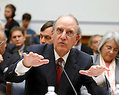 "Washington, D.C. - January 15, 2008 -- Former United States Senator George Mitchell (Democrat of Maine) testifies before the United States House Committee on Oversight and Government Reform hearing on ""The Mitchell Report: The Illegal Use of Steroids in Major League Baseball."" on Tuesday, January 15, 2008..Credit: Ron Sachs / CNP.[RESTRICTION: No New York Metro or other Newspapers within a 75 mile radius of New York City]"