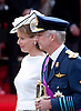 """BELGIAN ROYALS ATTEND NATIONAL DAY.Crown Princess Mathilde and her husband Crown Prince Philippe at the military parade on the occasion of Belgian National Day, Brussels_21/07/2012.Photo Credit: ©Alain Rolland/Newspix International..**ALL FEES PAYABLE TO: """"NEWSPIX INTERNATIONAL""""**..PHOTO CREDIT MANDATORY!!: NEWSPIX INTERNATIONAL..IMMEDIATE CONFIRMATION OF USAGE REQUIRED:.Newspix International, 31 Chinnery Hill, Bishop's Stortford, ENGLAND CM23 3PS.Tel:+441279 324672  ; Fax: +441279656877.Mobile:  0777568 1153.e-mail: info@newspixinternational.co.uk"""