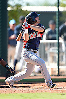 Cleveland Indians outfielder Bobby Ison (20) during an Instructional League game against the Seattle Mariners on October 1, 2014 at Goodyear Training Complex in Goodyear, Arizona.  (Mike Janes/Four Seam Images)
