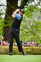 Phil Mickelson (USA) watches his tee shot on 18 during round 3 of the World Golf Championships, Mexico, Club De Golf Chapultepec, Mexico City, Mexico. 3/4/2017.<br /> Picture: Golffile | Ken Murray<br /> <br /> <br /> All photo usage must carry mandatory copyright credit (&copy; Golffile | Ken Murray)