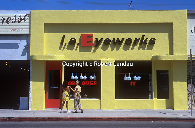 L.A. Eyeworks, Melrose Ave., West Hollywood, 1986