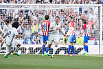 Kepler Laveran Lima Ferreira Pepe of Real Madrid celebrates scoring during their La Liga match between Real Madrid and Atletico de Madrid at the Santiago Bernabeu Stadium on 08 April 2017 in Madrid, Spain. Photo by Diego Gonzalez Souto / Power Sport Images