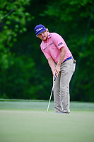 Zac Blair (USA) watches his putt on 2 during round 3 of the Shell Houston Open, Golf Club of Houston, Houston, Texas, USA. 4/1/2017.<br /> Picture: Golffile | Ken Murray<br /> <br /> <br /> All photo usage must carry mandatory copyright credit (&copy; Golffile | Ken Murray)