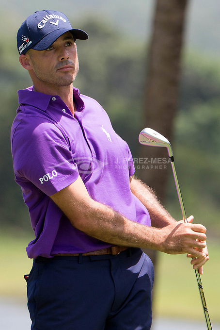 Jonathan Currie Byrd (born January 27, 1978) is an American professional golfer. He was the 2002 PGA Tour Rookie of the Year, and has won five times on the PGA Tour.<br /> Byrd was born in Anderson, South Carolina. He attended Clemson University from 1997 to 2000. During his Clemson career, Byrd was the first four-time First Team All-ACC player in Clemson history and was named a First Team All-America in 1999. He represented the United States on the Walker Cup team in 1999.<br /> Byrd turned professional in 2000 and played on the Buy.Com Tour (now Web.com Tour), winning the BUY.COM Charity Pro-Am at The Cliffs and finishing eighth on the money list.<br /> In his first season on the PGA Tour in 2002, Byrd won the Buick Challenge and was named PGA Tour Rookie of the Year. Byrd won the B.C. Open in 2004 and the John Deere Classic in 2007.<br /> Byrd had an average season in 2008 with two top-10s and a little over $1,000,000 in earnings. His best finish in 2009 was at the Memorial Tournament, where he was joint second round leader with Jim Furyk. Byrd would go on to finish T3.<br /> On July 7, 2009, Byrd 's father, James, died aged 65 after a long struggle with brain cancer. The death of his father caused Byrd to withdraw from the John Deere Classic, an event he won in 2007.<br /> On October 24, 2010, Byrd defeated Martin Laird and Cameron Percy in a sudden-death playoff at the Justin Timberlake Shriners Hospitals for Children Open for his fourth PGA Tour title. Byrd made a hole-in-one on the fourth hole of the playoff, the par-3 17th, to win the championship.[4] On January 9, 2011, Byrd defeated Robert Garrigus on the second hole of a playoff to win the PGA Tour season opener the Hyundai Tournament of Champions.